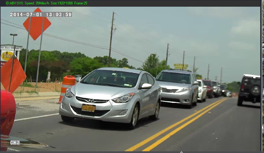 FHD4 Stop Arm Camera Forward Facing low resolution image, actual images in High Definition Full HD 1080p 1920x1080