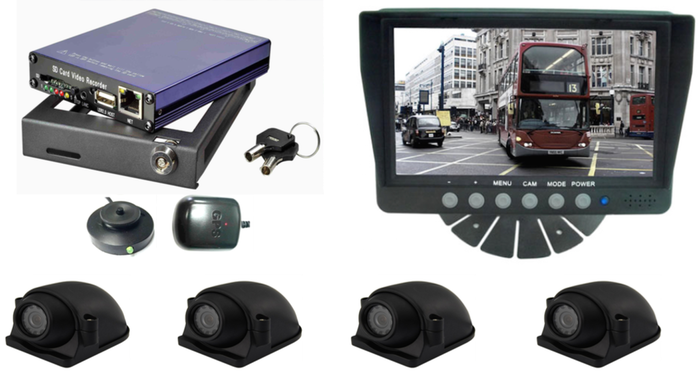 Forklift Safety Camera Surveillance System Image