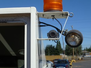 HD Forklift Light Bar camera surveillance safety camera solution