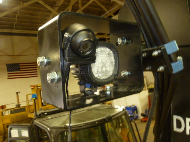 HD Forklift Mast Mount closeup video camera surveillance safety camera solution