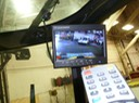 HD Forklift Roof Mounted LCD with full screen camera selection video camera surveillance safety solution