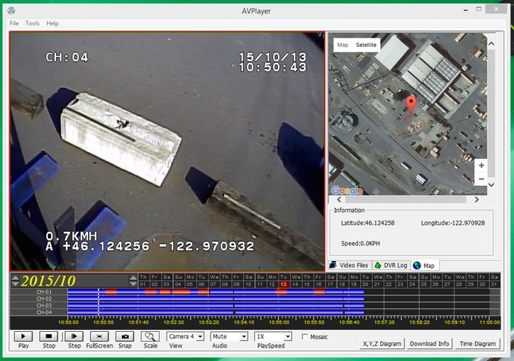 Heavy Duty Forklift Lift Operator Boom Mast Counterweight & Fork Safety Camera screenshot # 7