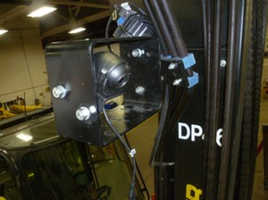 Heavy Duty Forklift Mast Mount video camera surveillance safety camera solution