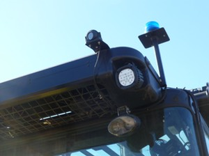 Heavy Duty Forklift Roof Mount video camera onboard DVR surveillance safety camera solution 5