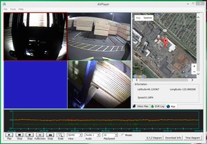 Heavy Duty Industrial  Safety Camera 3-Axis Accelerometer Charting GUI screenshot #1 8