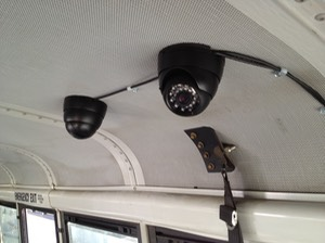 Inmate Transportation camera security camera system cameras roof mount exposed cables per customer request
