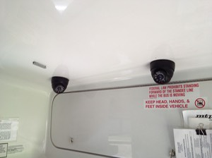Juvenile Detention Transport Security Camera onboard video recorder surveillance camera system twin cameras 3