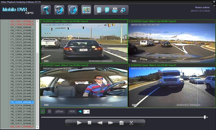 Vehicle Video Cameras On Board In Vehicle Driver Camera Sys