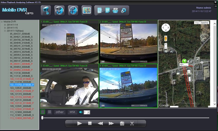 SD4D & SD4W  GUI Quad Screen Sat Map viewlow cost Pupil transportation child safety and security onboard vehicle video camera observation systems