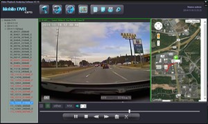 SD4D & SD4W GUI Road Camera Full Screen w/ Sat Map view low cost Student transportation child safety and security onboard vehicle video camera observation systems