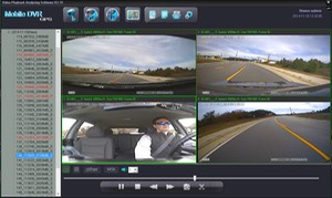 SD4D & SD4W Vehicle driver camera test Cam1-PD Forward View, Cam2-ExCAM Forward View, Cam3-PD Driver, Cam4 ExCAM Rear 3 mobile video security surveillance onboard driver camera system