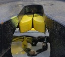Yard truck trailer switcher Driver Safety 5th wheel King Pin Camera #3 Yellow Painted 5th wheel jaws closeup