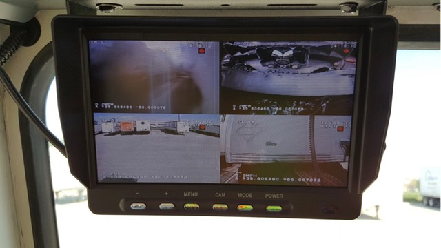 Yard truck trailer switcher Driver Safety 5th wheel King Pin Camera Driver Live View 5th Wheel Camera Display
