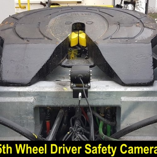 5th wheel yard truck switcher driver safety camera Kingpin 5th wheel locking jaws driver safety camera #3  Yard truck trailer switcher Driver Safety 5th wheel King Pin Camera Driver Live View 5th Wheel Camera Display image showing;   5th wheel yard truck switcher driver safety camera Kingpin 5th wheel locking jaws driver safety camera #3    Lack of proper training in the mechanics of the process as well as human nature and the downsides thereof, such as; oversight, lack of concentration, failure to physically check and verify the condition of the trailer, the King Pin and locking jaws can contribute to hazardous conditions resulting in employee injury or accidents damaging company property when the 5th Wheel lockup experiences catastrophic failure.    This is where a driver live view video can provide real time visual confirmation the 5th Wheel King Pin locking jaws are either fully engaged in the proper manor, or they are not, when an accident can be prevented, before it happens.    Real Time Yard Trailer Switcher Driver verification of:  King Pin properly seated in 5th Wheel  5th Wheel King Pin engagement  5th Wheel locking jaws engaged and secure