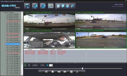 SD4D & SD4W Onboard vehicle driver mobile video event recorder camera surveillance Mobile DVR with active alerts w/Quad with sensors View fleet driver risk management