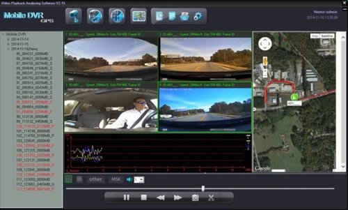 SD4D & SD4W Gui Quad sat map, G-Sensors routing view document Dangerous Driving Behaviors, driver safety camera, passenger safety security surveillance camera systems  GUI Quad Screen Map Route view child safety security surveillance system for pupil transportation on school buses.  The SD4D Driver safety & passenger security vehicle camera system is a video event recorder that can be incorporated as a low cost active driver training device that can help reduce dangerous driving behaviors,  reduce fleet driver risk from those dangerous driving behaviors and actively remind the drivers to abide management safe driving parameters like maximum speeds, reduction of hard turns and rapid acceleration or breaking.  In-vehicle or onboard mobile surveillance systems for transit, paratransit in-vehicle on-board applications are incorporated to provide verifiable video documentation in the areas of Driver Safety and Transit Passenger Security in case of incident or event.  Video event recording systems like the SD4D and SD4W provide sequential documentation of incidents or events when claims for a quick review of what happened from a non-biased non-prejudiced mobile digital eye witness.