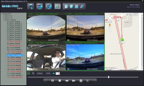 SD4D & SD4W GUI Quad Screen Map Route view child safety security surveillance system for pupil transportation on school buses