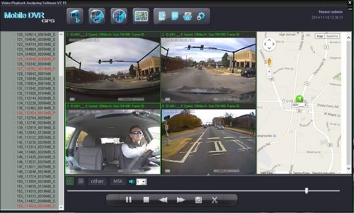 SD4D & SD4W Vehicle driver camera used to monitor fleet driver activities and Dangerous Driving Behaviors w/ Quad Map view Driver Safety Surveillance Video Event Recorder Camera Mobile Video Solution for vehicles