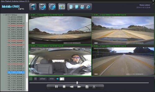 SD4D & SD4W Vehicle driver camera test Cam1-PD Forward View, Cam2-ExCAM Forward View, Cam3-PD Driver, Cam4 ExCAM Rear best value mobile video surveillance camera system solution