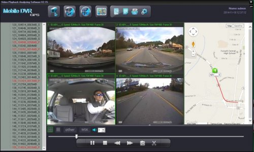 SD4D & SD4W Vehicle Mobile DVR with active alerts w/ Quad, Map view affordable mobile video surveillance camera security system solution for onboard Pupil Transport child safety solutions