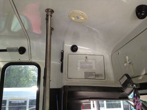 Assisted Living Adult Shuttle Bus camera surveillance