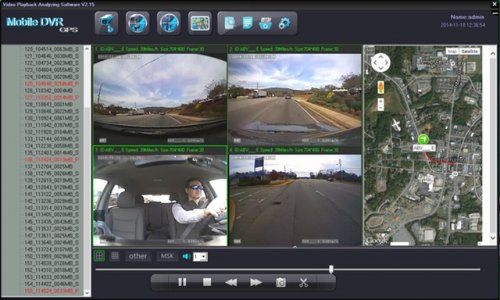 SD4D & SD4W Vehicle driver camera used to reduce fleet driver risk w/ Quad Sat Map view Driver Safety Surveillance Camera Mobile Video Solution for vehicles