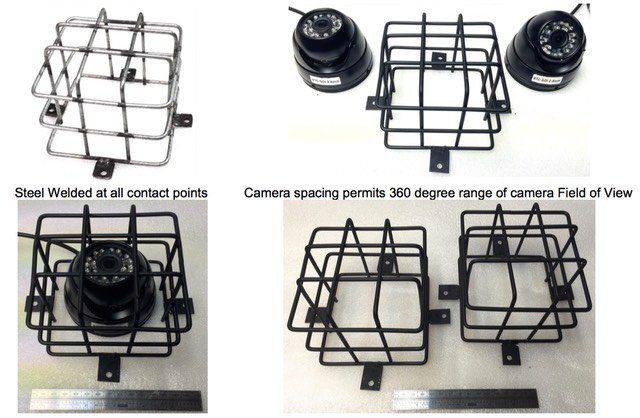 Steel Wire Security Cage for Police Prisoner Transport Van Wagon & Bus  Dome Cameras